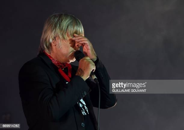 French singer Renaud Sechan performs at the 41th edition of 'Le Printemps de Bourges' rock and pop music festival in Bourges on april 18 2017 / AFP...