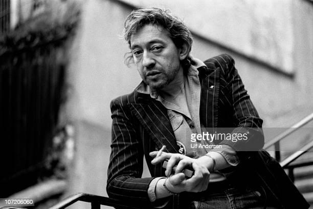 PARIS FRANCE APRIL 18 French singer Serge Gainsbourg poses during portrait session held on April 18 1980 in Paris France