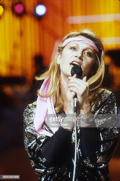French singer Sheila performing in concert on the French television show Palmares de la Chanson The musical variety show features popular...