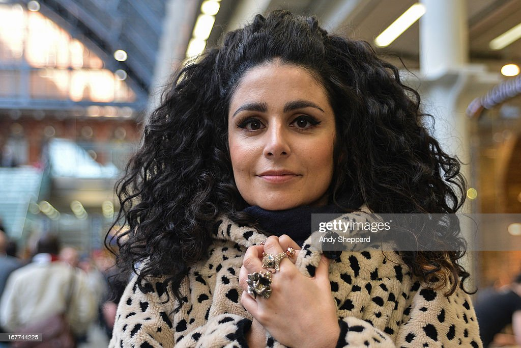 French singer Sophie Delila posed backstage at Station Sessions Festival 2013 at St Pancras Station on April 26, 2013 in London, England.