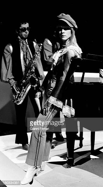 French singer Sylvie Vartan in the Spanish TV program 'Gran Parada' 14th September 1968 Madrid Spain