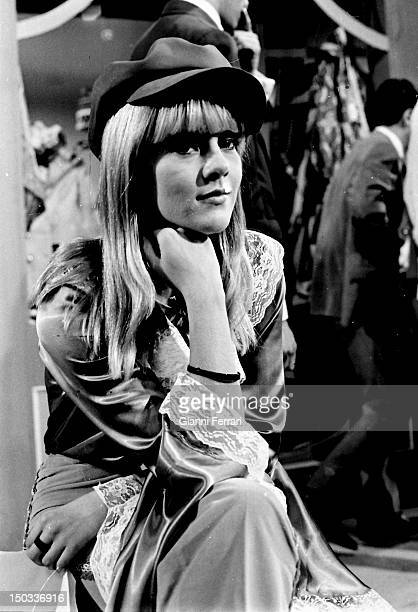 French singer Sylvie Vartan in the Spanish TV program 'Gran Parada' 14th September1968 Madrid Spain