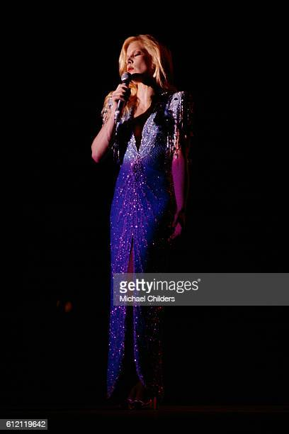 French singer Sylvie Vartan on stage