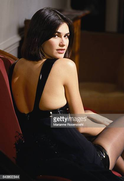 French singer TV and radio presenter and former model Helena Noguerra