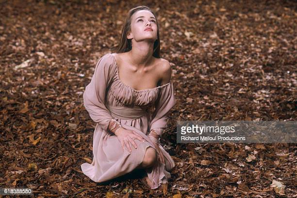 French singer Vanessa Paradis films her 1990 music video Dis lui Toi Que Je t'Aime The pop singer is also a model