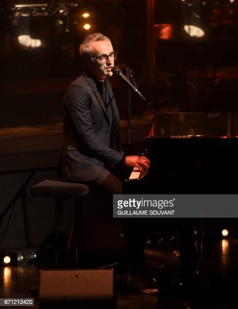 French singer Vincent Delerm performs on stage at the 41th edition of 'Le Printemps de Bourges' rock and pop music festival in Bourges on April 21...