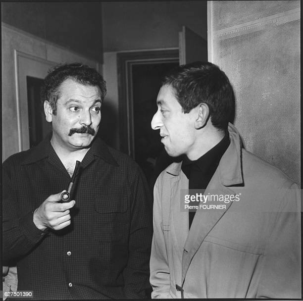 French singers and composers Georges Brassens and Serge Gainsbourg