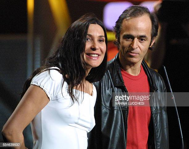 French singers JeanJacques Goldman and Zazie take part in the NRJ Music Awards ceremony 19 January 2002 in Cannes Zazie was awarded for the French...