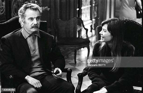 French singersongwriter Georges Brassens with French singer Francoise Hardy during in 1964 in France