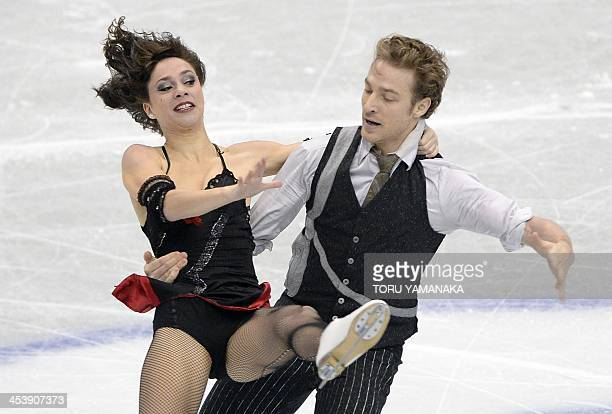 French skater Nathalie Pechalat and Fabian Bourzat perform during short dance of ice dance competition at the ISU figure skating Grand Prix Final in...