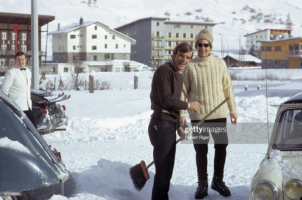 French skier <a gi-track='captionPersonalityLinkClicked' href=/galleries/search?phrase=Jean-Claude+Killy&family=editorial&specificpeople=223880 ng-click='$event.stopPropagation()'>Jean-Claude Killy</a> smiles as he holds a broom in a photo taken in December 1967.