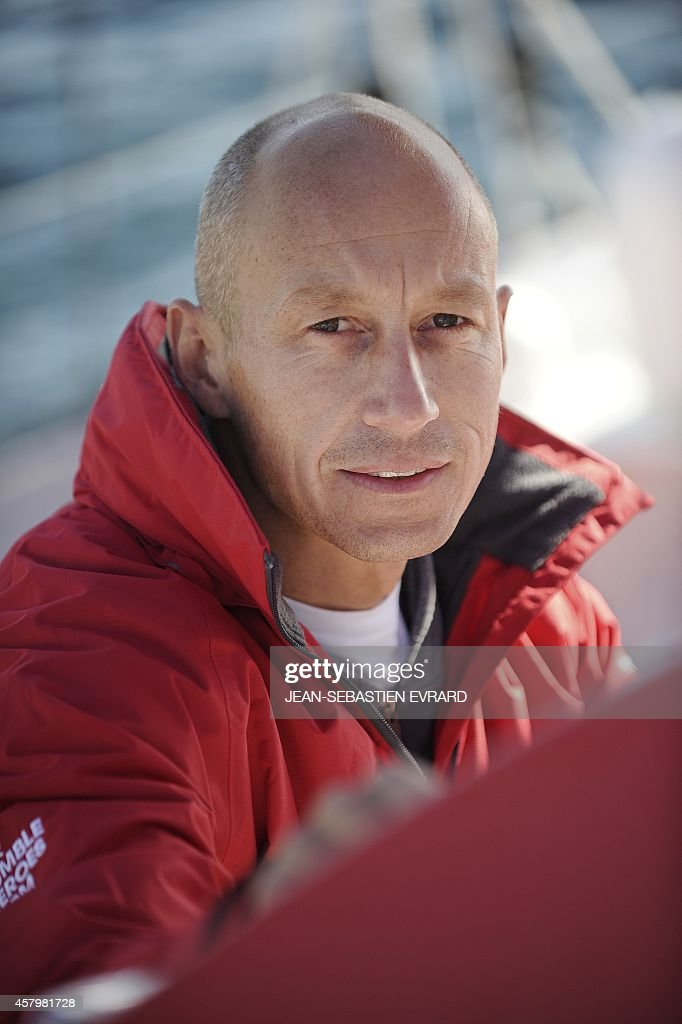 French skipper <b>Armel Tripon</b> poses aboard his class Imoca monohull &#39;For ... - french-skipper-armel-tripon-poses-aboard-his-class-imoca-monohull-for-picture-id457981728