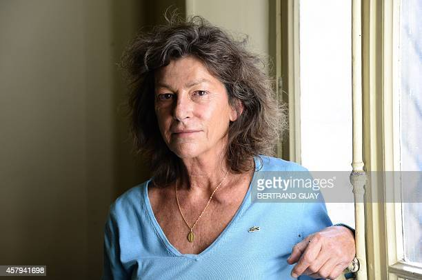 French skipper Florence Arthaud poses in Paris on October 27 2014 Sailor Arthaud won the Route Du Rhum in 1990 and the Transpacific 1997 with Bruno...