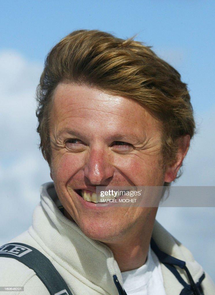 French skipper Jean-<b>Pierre Dick</b>, 38, steers his yacht 13 October 2004 off <b>...</b> - french-skipper-jeanpierre-dick-steers-his-yacht-13-october-2004-off-picture-id160646201