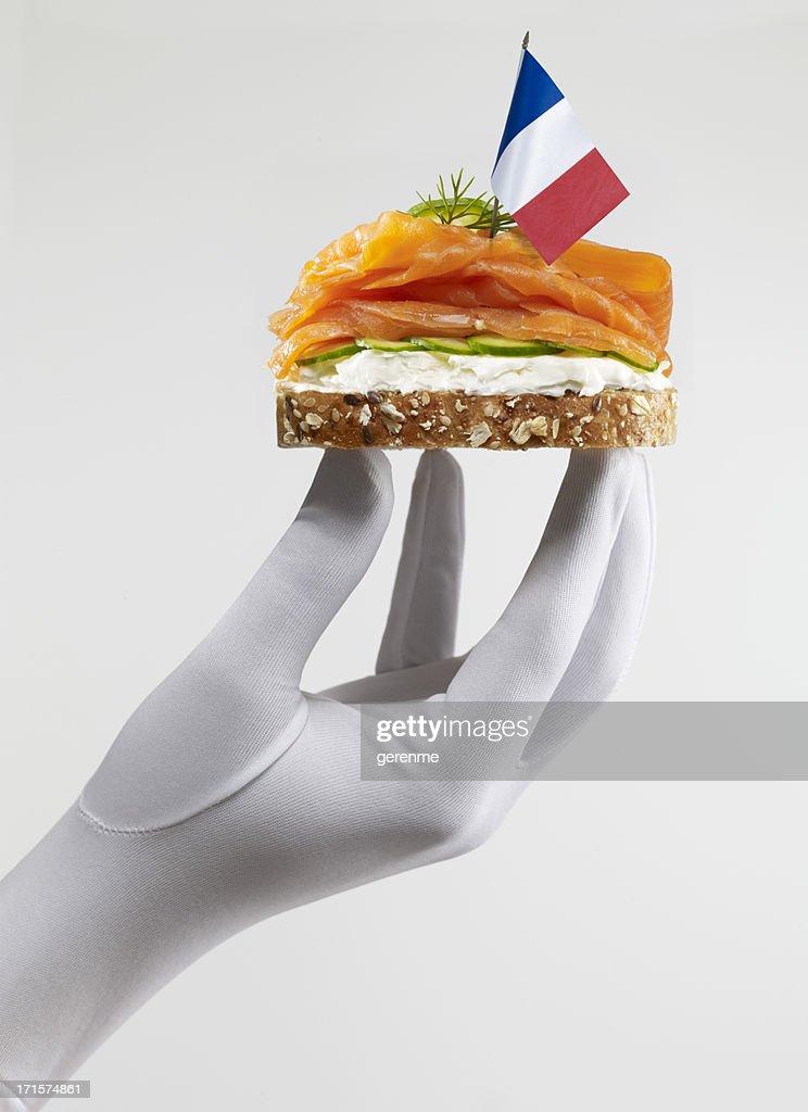 French Smoked Salmon Sandwich