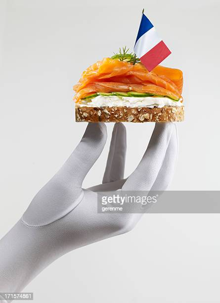 French Sandwich au saumon fumé