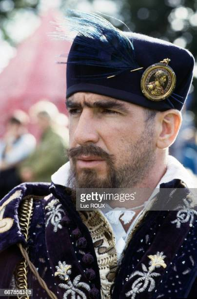 French soccer player and actor Eric Cantona on the set of the 1998 film Elizabeth directed by Shekhar Kapur