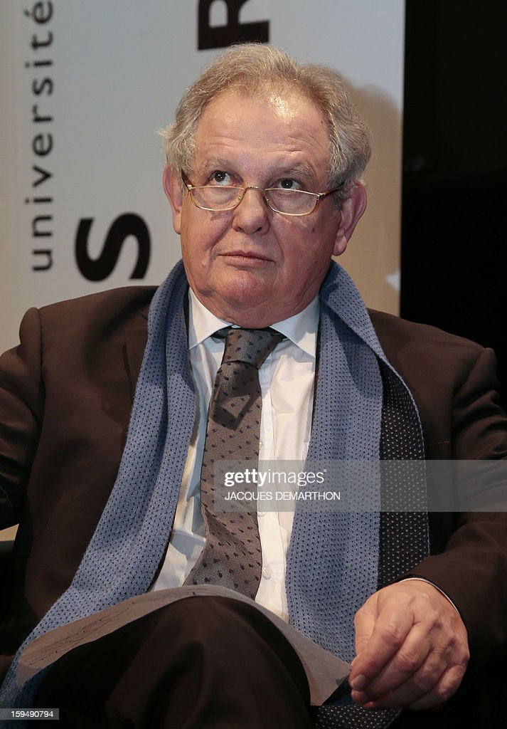 French Socialist MP and commissioner of a report focused on higher education and research, Jean-Yves Le Deaut attends a debate upon student success, on January 14, 2013 at Paris Diderot University.