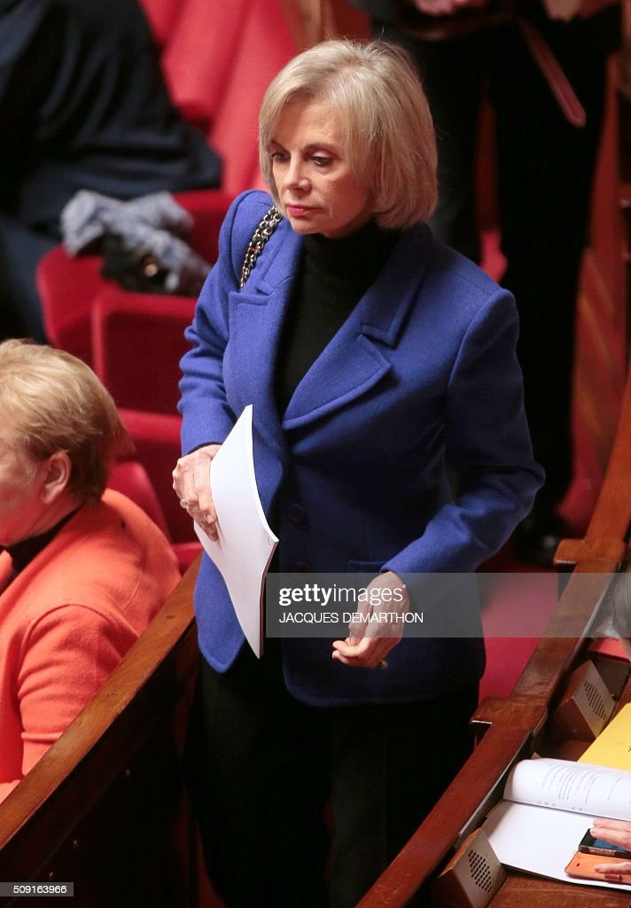 French Socialist MP Elisabeth Guigou arrives at the French National Assembly in Paris on February 9, 2016, as French lawmakers examined proposed changes to the constitution. France's lower house of parliament is to vote on plans to enshrine a state of emergency into the constitution, including a controversial measure to strip French nationality from those convicted of terrorism and serious crimes. / AFP / JACQUES DEMARTHON