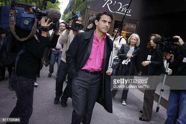 French Socialist MP Manuel Valls arrives for the national council of the French Socialist party 23 June in Paris French PS leaders gather today in...