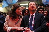 French Socialist Party candidate for the upcoming French presidential election Francois Hollande during a campaign meeting on defense matters in...