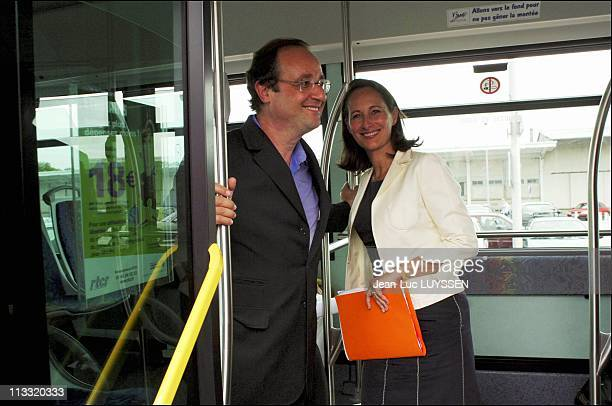 French Socialist Party Holds Annual Summer Conference In La Rochelle On August 28Th 2005 In La Rochelle France Here Francois Hollande And Segolene...