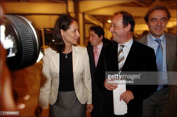 French Socialist Party Holds Conference On Its Presidential Project For 2007 Race In Strasbourg On June 3Rd 2006 In Strasbourg France Here Segolene...