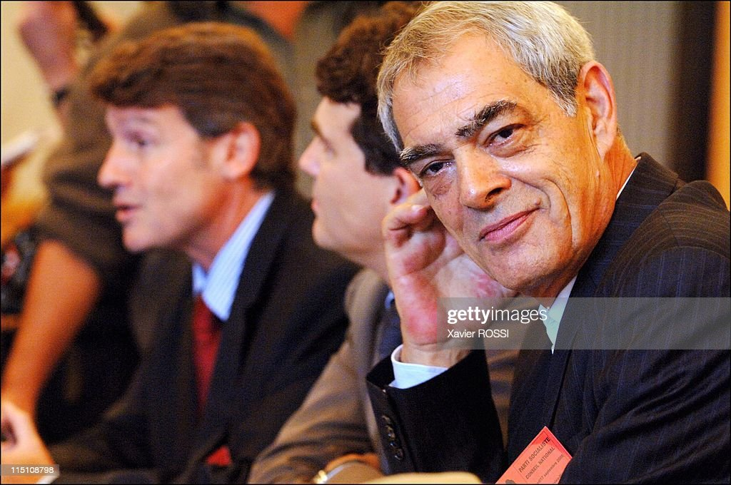 French Socialist Party holds National Council at La Mutualite in Paris, France on September 17, 2005 - <a gi-track='captionPersonalityLinkClicked' href=/galleries/search?phrase=Henri+Emmanuelli&family=editorial&specificpeople=554955 ng-click='$event.stopPropagation()'>Henri Emmanuelli</a>.