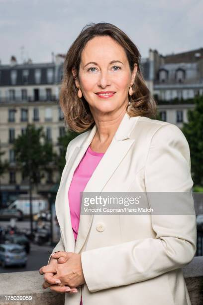 French socialist party politician Segolene Royal is photographed for Paris Match on June 17 2013 in Paris France