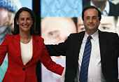 French Socialist Party presidential candidate Segolene Royal campaigns during a political rally in Limoges Royal's partner Francois Hollande and...