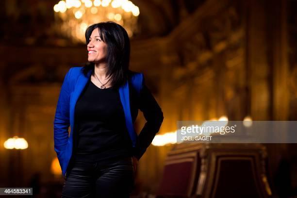 French Socialist Party Senator Samia Ghali poses on January 21 2014 in Paris AFP PHOTO / JOEL SAGET