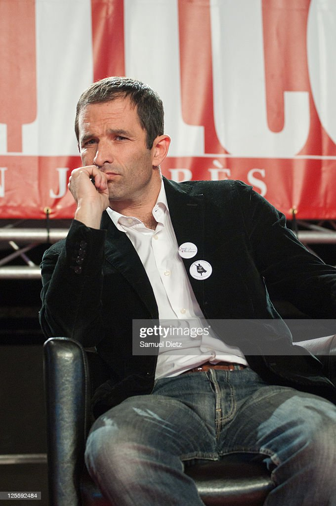 French Socialist Party spokeperson Benoit Hamon attends day 2 of La Fete de l'Humanite on September 17, 2011 at La Courneuve, France. La Fete de l'Humanite is a politic and musical festival organised every year to fund French Communist newspaper L'Humanite. on September 17, 2011 in La Courneuve, France.