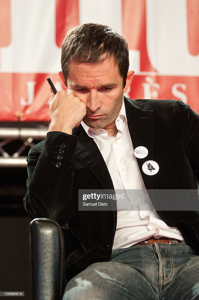 French Socialist Party spokeperson <a gi-track='captionPersonalityLinkClicked' href=/galleries/search?phrase=Benoit+Hamon&family=editorial&specificpeople=2143789 ng-click='$event.stopPropagation()'>Benoit Hamon</a> attends day 2 of La Fete de l'Humanite on September 17, 2011 at La Courneuve, France. La Fete de l'Humanite is a politic and musical festival organised every year to fund French Communist newspaper L'Humanite. on September 17, 2011 in La Courneuve, France.