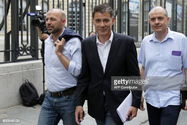 French Socialist Party's newly reelected spokesperson and MP Olivier Faure arrives to take part in the party's national council behind closed doors...