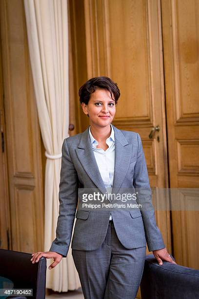 French Socialist politician and Minister of Education Najat VallaudBelkacem is photographed for Paris Match on August 24 2015 in Paris France