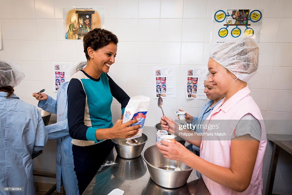 French Socialist politician and Minister of Education Najat Vallaud Belkacem is photographed for Paris Match visiting Jean-Rostand school in Le Cateau Cambresis, France on August 21, 2015.