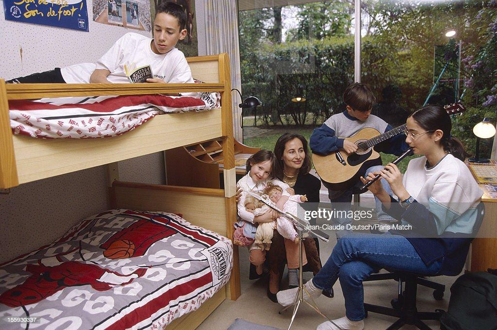 Segolene Royal & Family, Paris Match, Archive.