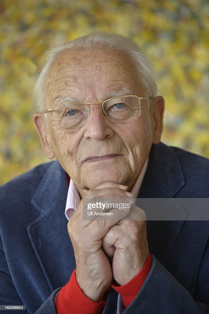 French sociologist and writer Alain Touraine poses during a portrait session on September 24, 2013 in Paris, France.