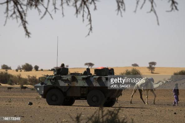A French soldier from the 126 RI is on guard on a armoured vehicle during the Operation Gustav a hunt for Islamist fighters in a valley in northern...
