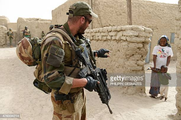 A French soldier of the 93rd Mountain Artillery Regiment part of the French Army's 'Operation Barkhane' an antiterrorist operation in the Sahel...