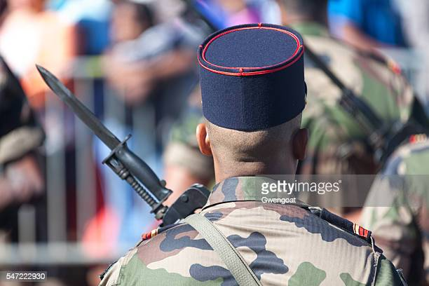 French soldier parading