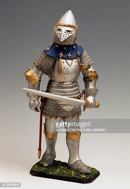 French soldier toy soldier in armour France early 15th century