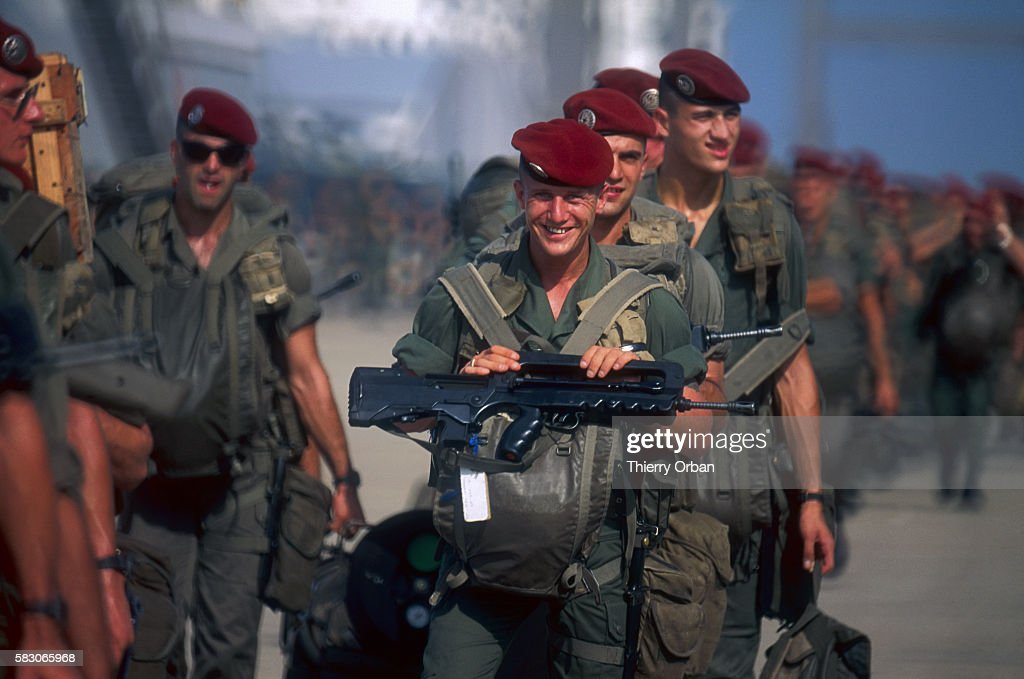 French soldiers arrive in Saudi Arabia during the Persian Gulf War In August of 1990 Iraqi president Saddam Hussein invaded Kuwait causing a...