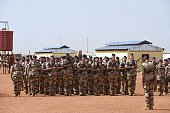 French soldiers of Barkhane counterterrorism operation in Africa's Sahel region are pictured in a French military operation center in Gao on February...