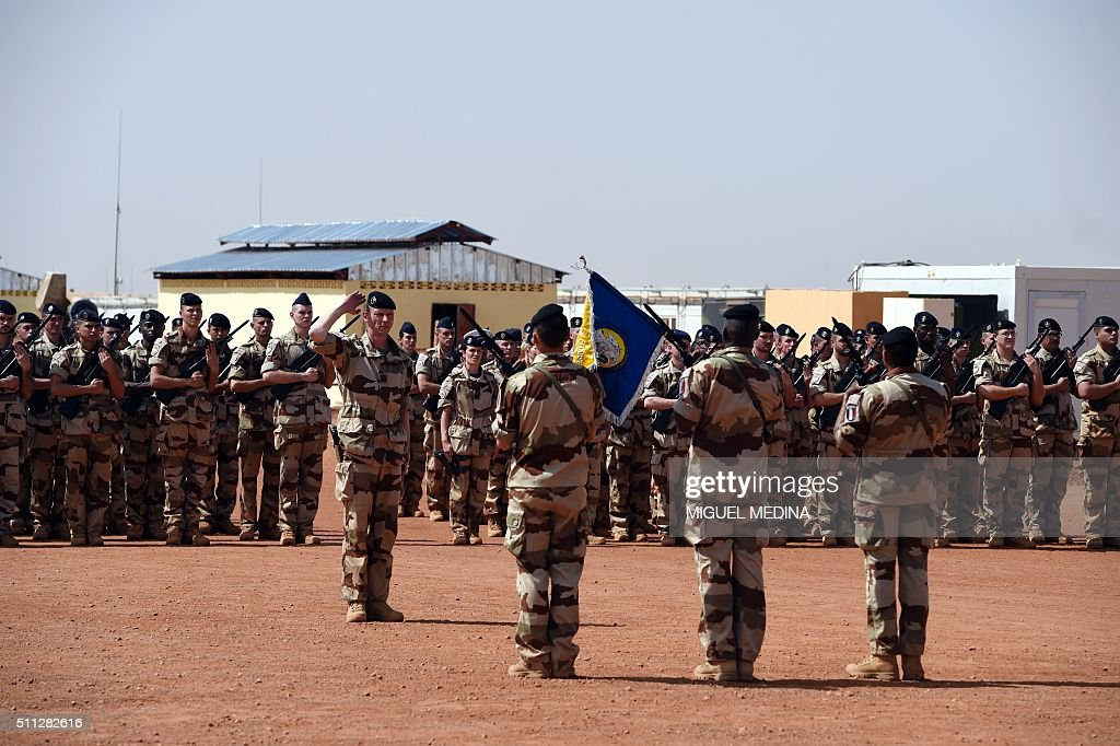 French soldiers of France's Barkhane counterterrorism operation in Africa's Sahel region are pictured in a French military operation center in Gao on...
