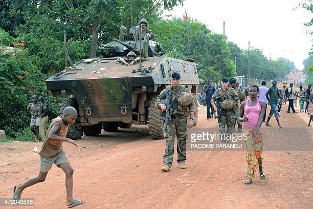 French soldiers patrol a street in Bangui part of 'Operation Sangaris' on May 2 2015 Faced with mounting pressure to shed light on accusations that...