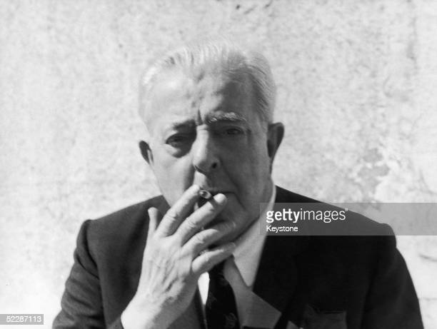 French songwriter poet and screen writer Jacques Prevert circa 1965