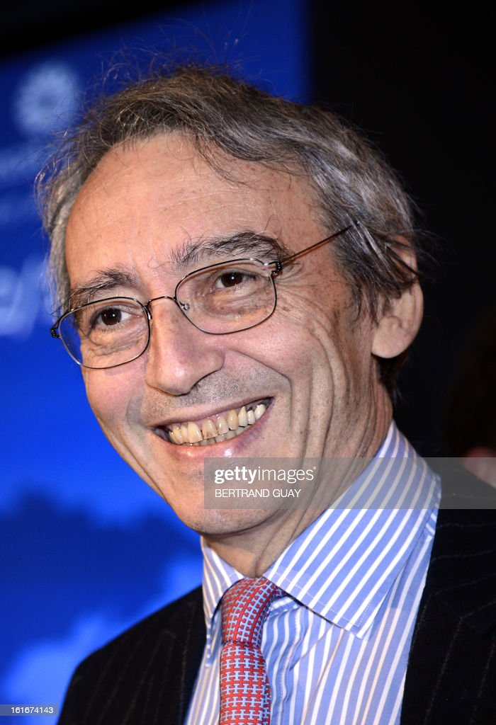 French spirit Pernod Ricard group's Vice-President and General Director Pierre Pringuet poses before a press conference to present the 2012-2013 half-yearly results, on February 14, 2013 in Paris.
