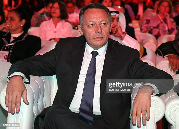 French Sports Junior Minister Thierry Braillard attends the Doha Goals summit in the Qatari capital on November 3 2014 The closeddoor forum sponsored...