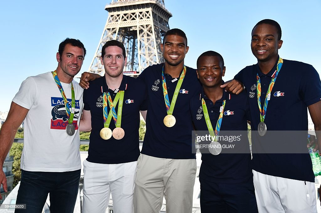 French sprint canoeist Maxime Beaumont French epee fencers Gauthier Grumier and Yannick Borel French foil fencers Jeanpaul Tony Helissey and Enzo...